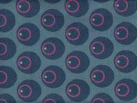 2 design pattern - Circle Flower blue