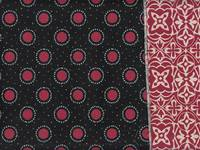 Wachstuch 2 design pattern - Dot Flower red