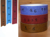 Washi Tape numbers 3er Set 15mm