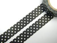 Washi Tape spot black 15mm