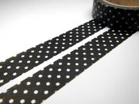 Washi Tape pin dots black 15mm