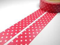 Washi Tape pin dots red 15mm