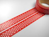 Washi Tape xmas dots red 15mm