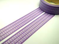 Washi Tape purple iron wire 15mm