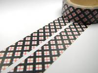 Washi Tape black red grids 15mm