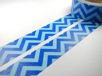 Washi Tape chevron blue 15mm