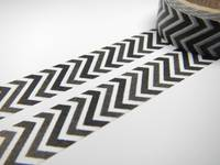 Washi Tape black zig zag 15mm