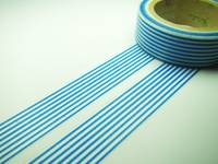 Washi Tape lines blue 15mm