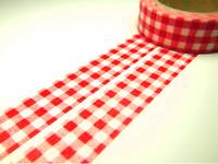 Washi Tape red cloth 15mm