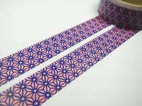 Washi Tape asanoha blue 15mm