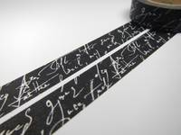 Washi Tape handwriting black 15mm