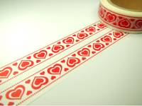 Washi Tape red hearts 15mm