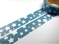 Washi Tape stars in blue 15mm
