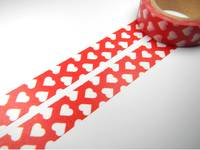 Washi Tape hearts red 15mm