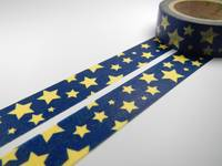 Washi Tape stars blue 15mm
