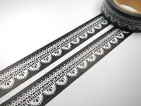 Washi Tape lace black 15mm
