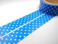 Washi Tape pin dots blue 15mm