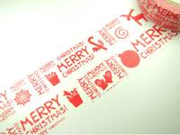 Masking Tape Red Xmas 15mm