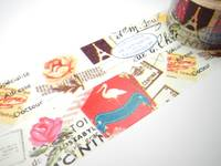 Washi Tape vintage print 30mm