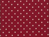 Wachstuch Dots cherry red