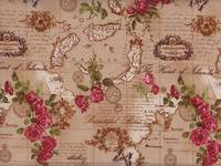 Wachstuch Antique Map beige