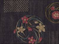 Patch Blumen Shibori blau