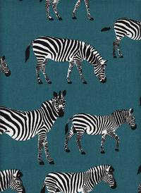 Zebra petrol (Canvas)