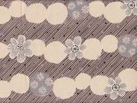 Border Flower beige (Canvas)