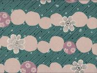 Border Flower emerald (Canvas)