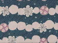 Border Flower blue (Canvas)