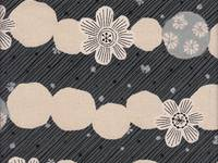 Border Flower black (Canvas)