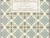 Sheri Lynn envelope blue arabesque