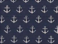 Cotton+Steel Anchor Navy