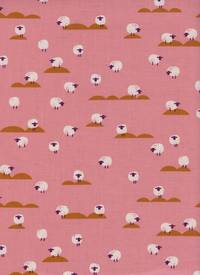 Cotton+Steel Sheep Coral