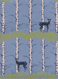 Cotton+Steel Fawn Forest Blue