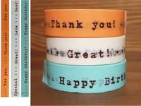 Washi Tape Message white 3er Set 15mm