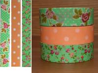 Washi Tape Rose orange 3er Set 15mm
