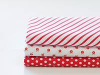 Fat Quarter 3er Pack Red Ribbon