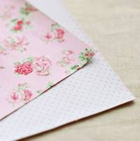 Fabric Sticker floral 2er Set A4