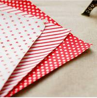 Fabric Sticker red ribbon 3er Set A4