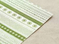 Fabric Sticker Petit green A4