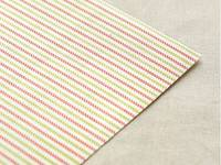 Fabric Sticker Strawberry stripe A4