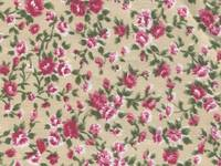 Fabric Sticker antique flower ivory A4
