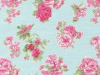 Fabric Sticker ashley rose blue A4