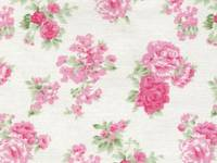 Fabric Sticker ashley rose ivory A4