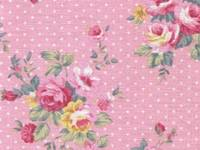 Fabric Sticker french rose pink A4