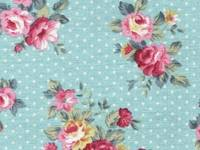 Fabric Sticker french rose sky blue A4