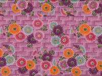 Fat Quarter Blumen lila