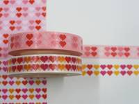 Masking Tape Pixel-Herzen 2er Set 10mm