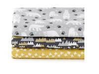 Fat Quarter 3er Pack White Night